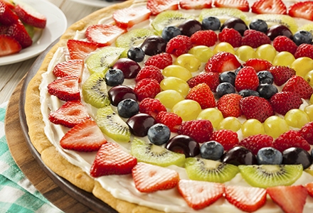 fruit compote healthy fruit pizza