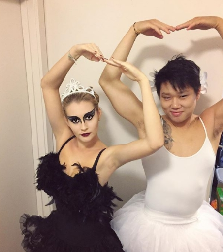 costum Halloween Black Swan