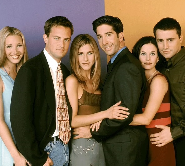 jennifer aniston, alaturi de ceilalti actori din friends, courteney cox, david schwimmer, lisa kudrow, Matthew Perry si matt leblanc