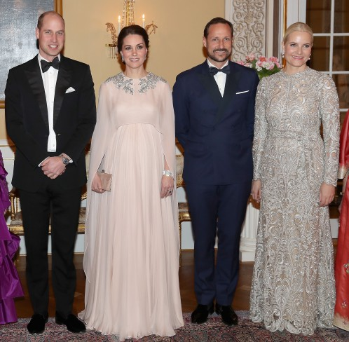 Printul William, Kate Middleton, printul Haakon, printesa Mette Marit
