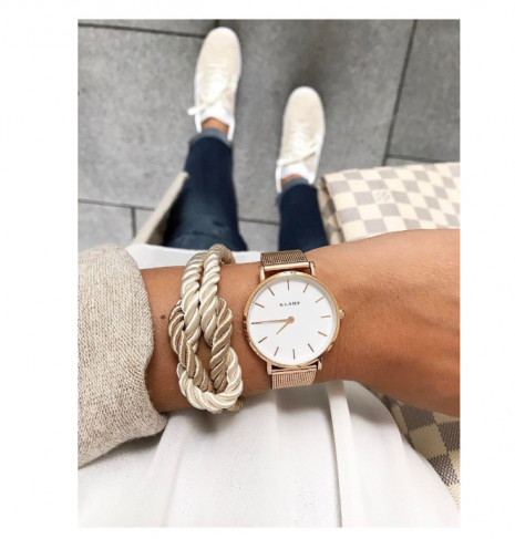 White & Rose Gold Klarf