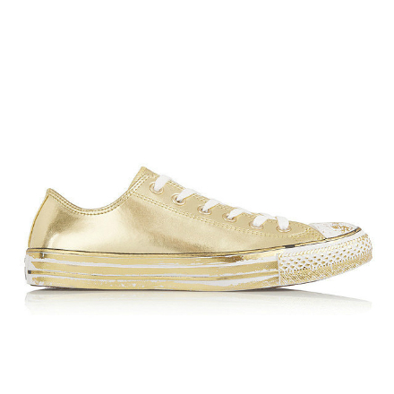 pantofi de primavara aurii