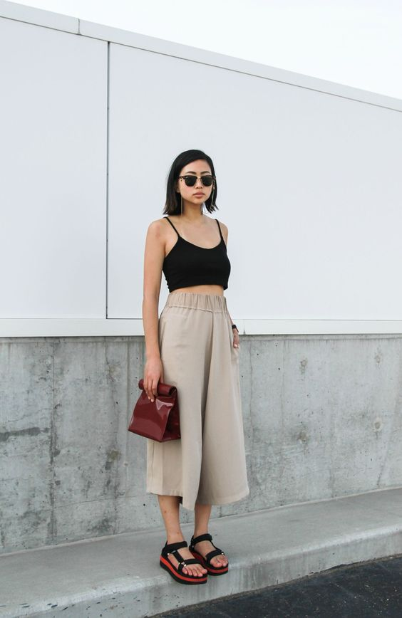 culottes si crop top
