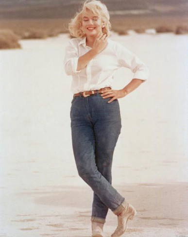 Marilyn Monroe in blugi