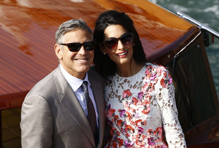 George Clooney s-a insurat   George Clooney si Amal