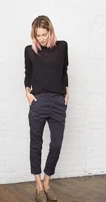 Pantaloni tigareta negri