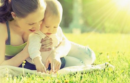 Copil cu mama