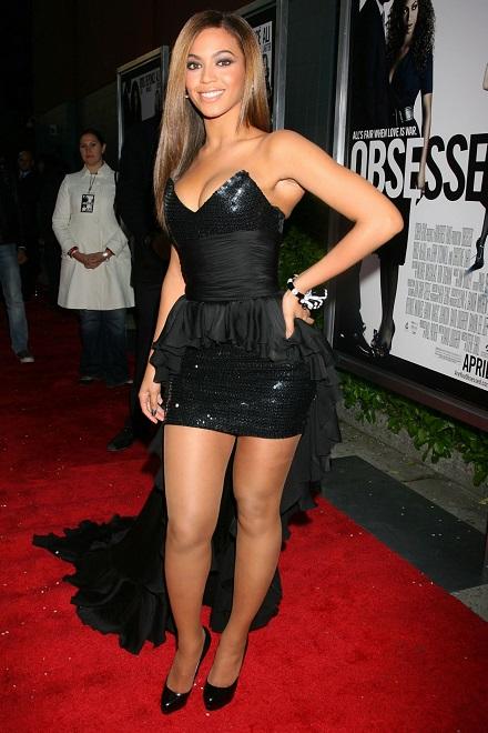 Beyonce rochie neagra tafta