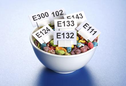 cereale cu aditivi alimentari