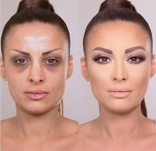 femeie transformata machiata