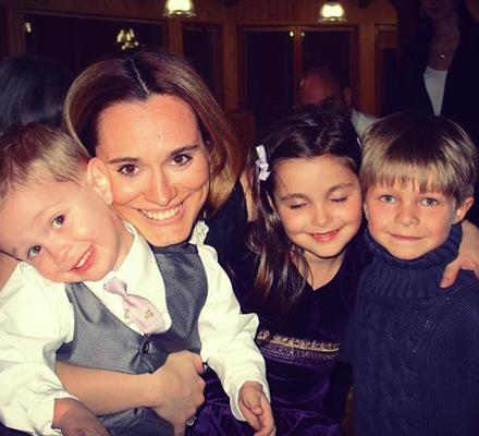 Andreea Esca si copiii ei