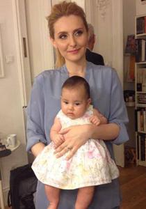 Alina Sorescu si fiica ei