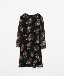 Rochie florala pe fundal negru