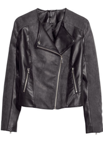 Jacheta din imitatie de piele neagra