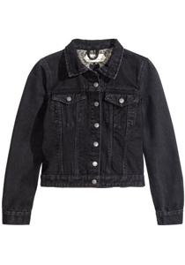 Jacheta neagra din denim