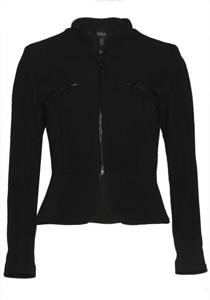 Jacheta neagra cu peplum
