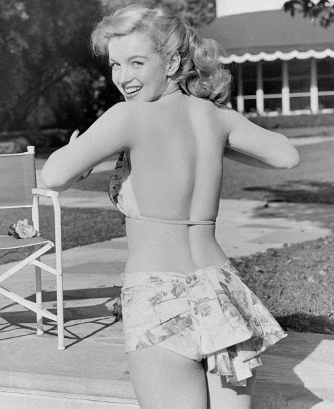Marilyn Monroe in costum de baie