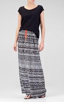 stradivarius maxi skirt
