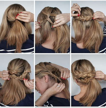 Hairstyle How To Hair Romance Easy Braided Upstyle Tutorial 24 Coafuri Par Lung Divahair Ro