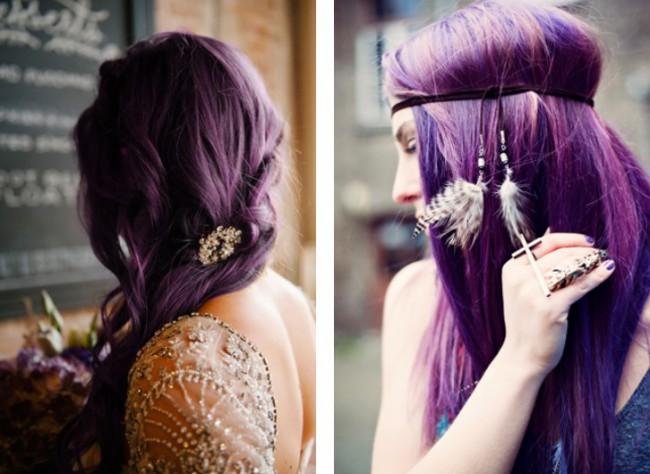 Violet de gentiana pe par roscat