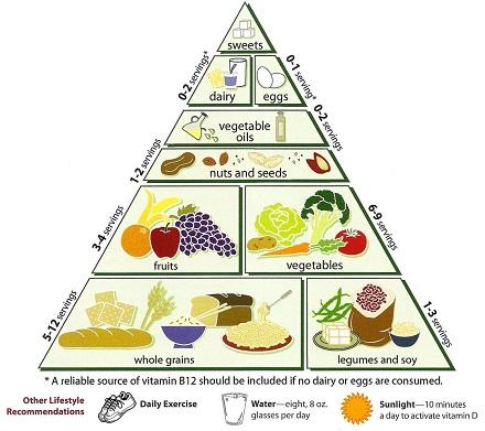 piramida alimentara pentru vegetarieni