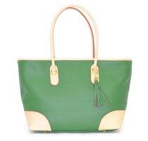 geanta verde din piele