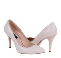 pantofi albi stiletto
