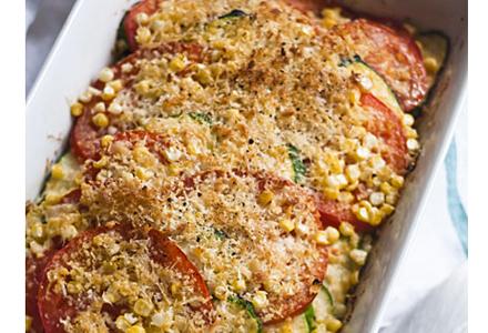 zucchini cu rosii la cuptor