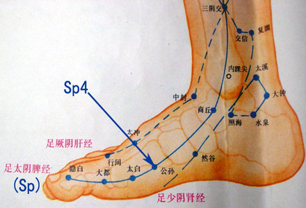 punct de presopunctura pentru durerile menstruale