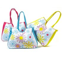 geanta de plaja cu imprimeu floral