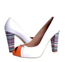 pantofi colour blocking