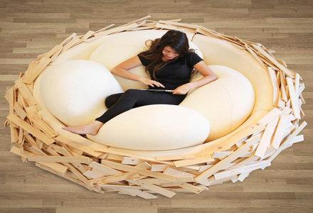 model de pat in forma de cuib