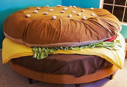 model de pat in forma de hamburger