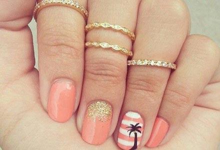 unghii de vara cu palmier