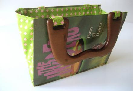 geanta handmade din carte