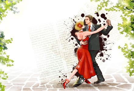 cuplu dansand