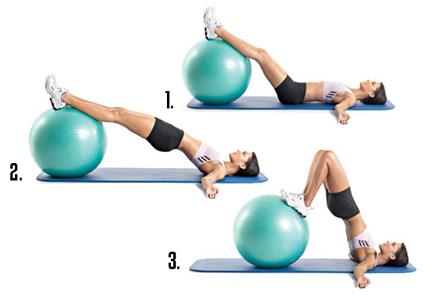 exercitiu cu mingea de fitness
