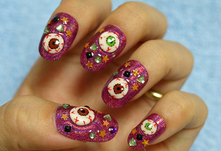 Image result for halloween nail art tutorial