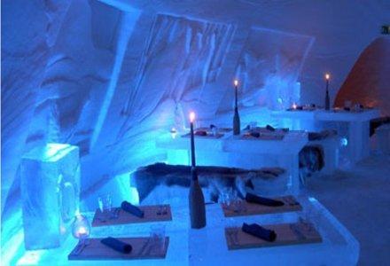 snow village ice