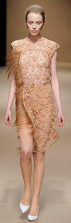 rochie de zi din dantela Véronique Leroy