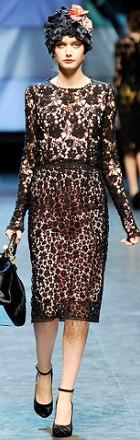 rochie de zi din dantela Dolce & Gabbana