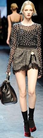 fusta din dantela Dolce & Gabbana