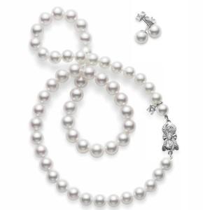 set de colier si cercei perle Akoya