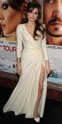 poza rochie alba din casmir Angelina Jolie