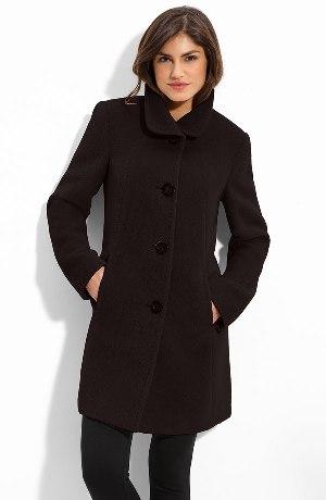poza palton din lana de alpaca Ellen Tracy