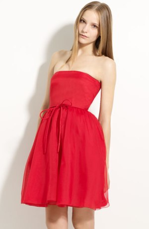 poza rochie din organza de satin Valentino