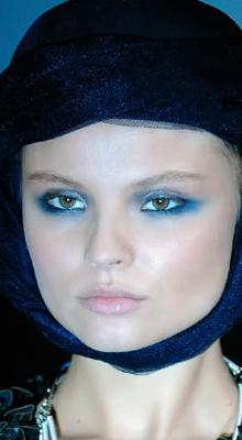 make-up smoky albastru