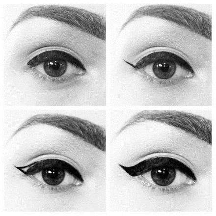 Linia de tus dupa forma ochilor