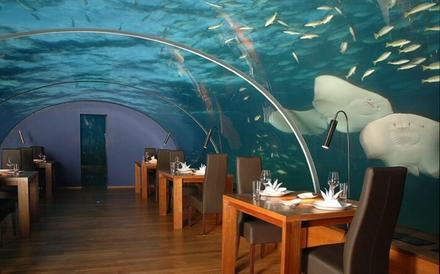 restaurant luxos ciudat acvatic insulele maldive hilton conrad