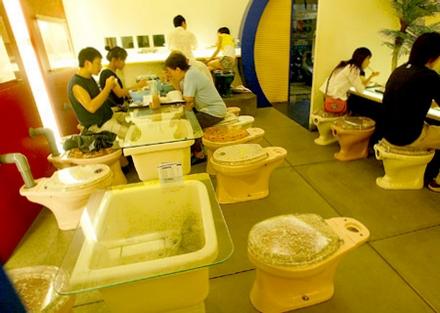 restaurant modern toilet toaleta mancare ciudat special taiwan